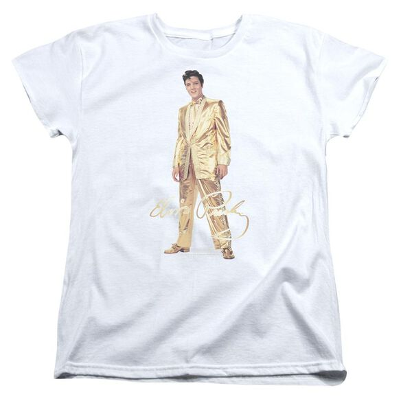 Elvis Presley Gold Lame Suit Short Sleeve Womens Tee T-Shirt