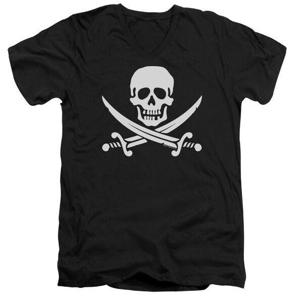 Jolly Roger Short Sleeve Adult V Neck T-Shirt