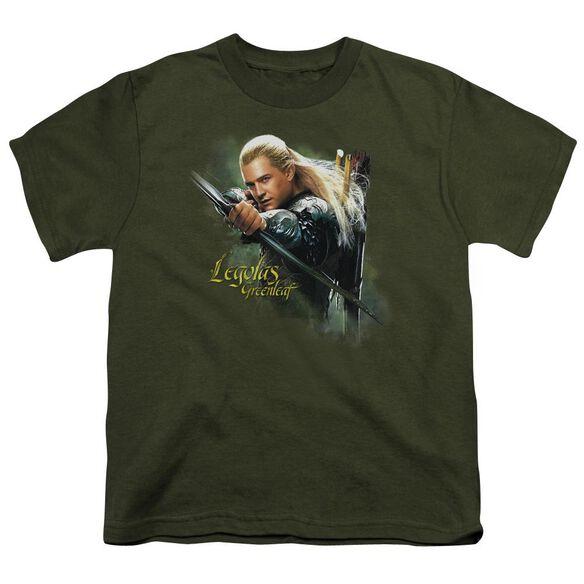 Hobbit Legolas Greenleaf Short Sleeve Youth Military T-Shirt