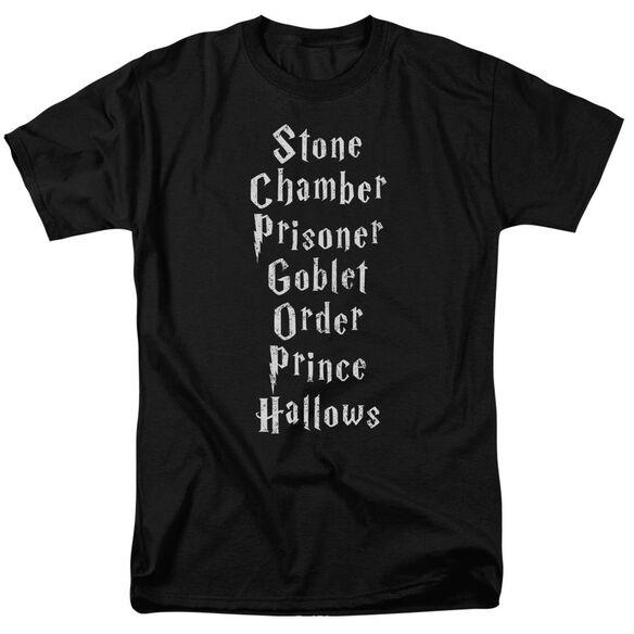 Harry Potter Titles Short Sleeve Adult T-Shirt