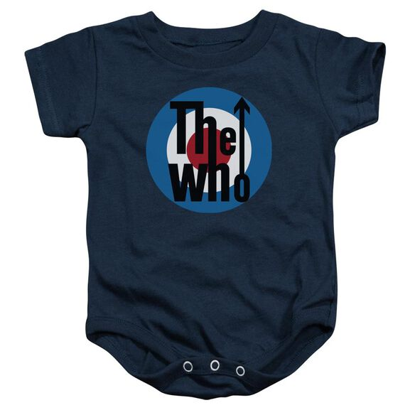 The Who Logo Infant Snapsuit Navy