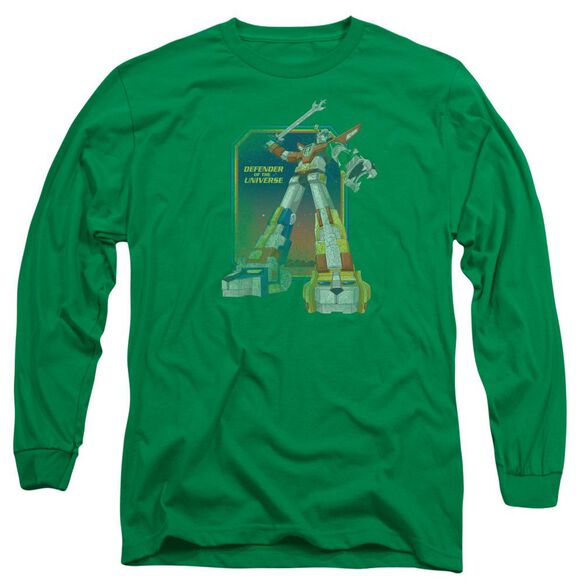 Voltron Distressed Defender Long Sleeve Adult Kelly T-Shirt