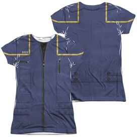 STAR TREK ENTERPRISE COMMAND UNIFORM (FRONT/BACK PRINT)-S/S JUNIOR T-Shirt