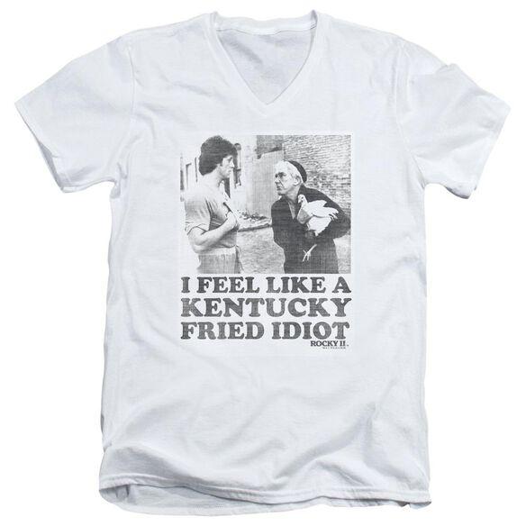 Rocky Fried Idiot Short Sleeve Adult V Neck T-Shirt