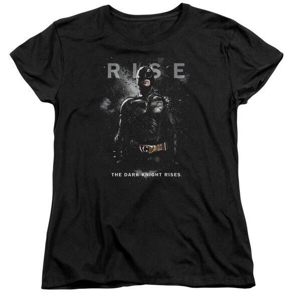 Dark Knight Rises Batman Rise Short Sleeve Womens Tee Black T-Shirt