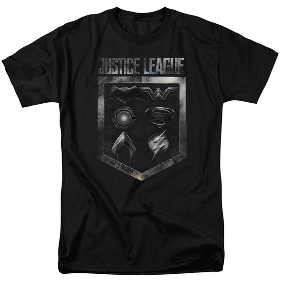 Justice League Movie Shield Of Emblems Short Sleeve Adult T-Shirt
