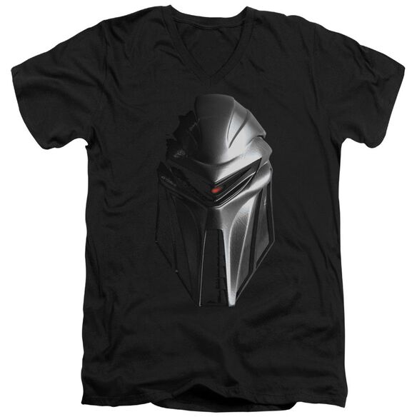 BSG CYLON HEAD - S/S ADULT V-NECK - BLACK T-Shirt