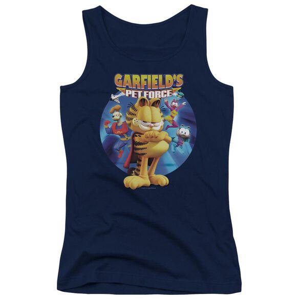 Garfield Dvd Art Juniors Tank Top