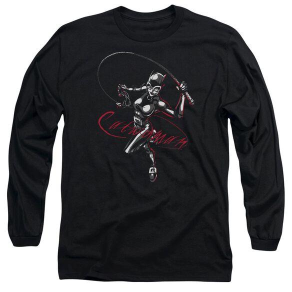 Batman Kitten With A Whip Long Sleeve Adult T-Shirt