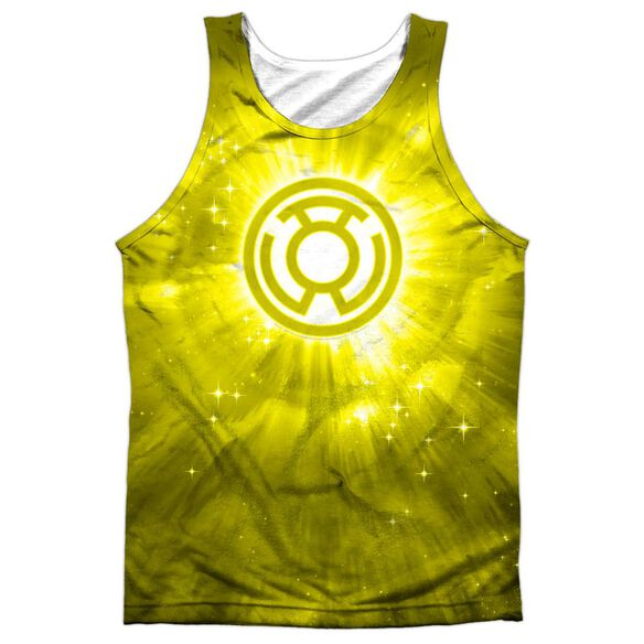 Green Lantern Yellow Energy Adult 100% Poly Tank Top