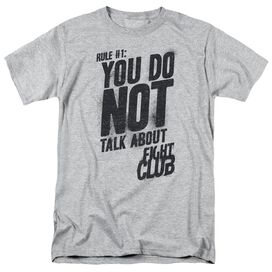 Fight Club Rule 1 Short Sleeve Adult Athletic T-Shirt