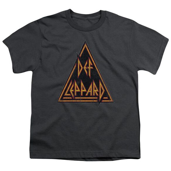 Def Leppard Distressed Logo Short Sleeve Youth T-Shirt