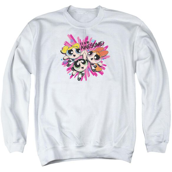 Powerpuff Girls Team Awesome Adult Crewneck Sweatshirt