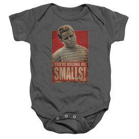 Sandlot Smalls Infant Snapsuit Charcoal