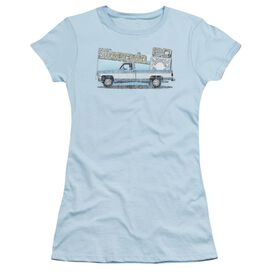 Chevrolet Old Silverado Sketch Short Sleeve Junior Sheer Light T-Shirt