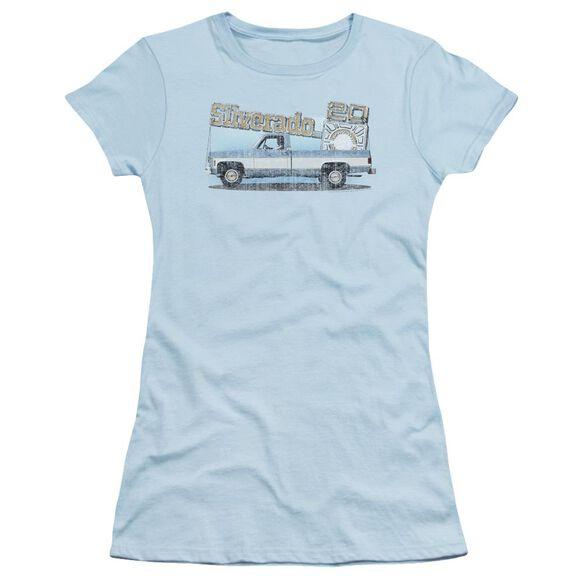 Chevrolet Old Silverado Sketch Short Sleeve Junior Sheer Light T-Shirt