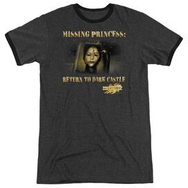 Mirrormask Missing Princess - Adult Heather Ringer - Charcoal