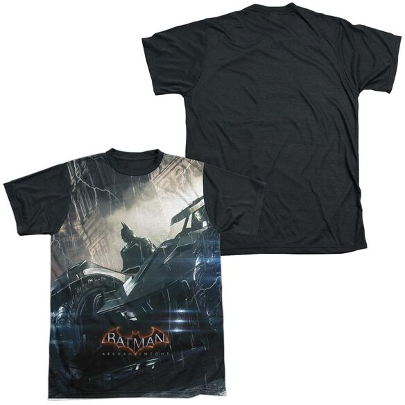 Batman Arkham Knight Into The Night Short Sleeve Adult Front Black Back T-Shirt