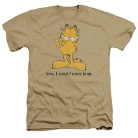 Garfield Yes I Could Care Less - Adult Heather - Sand