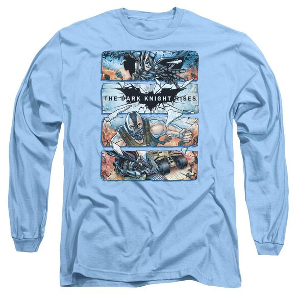 Dark Knight Rises Shattered Glass Long Sleeve Adult Carolina T-Shirt