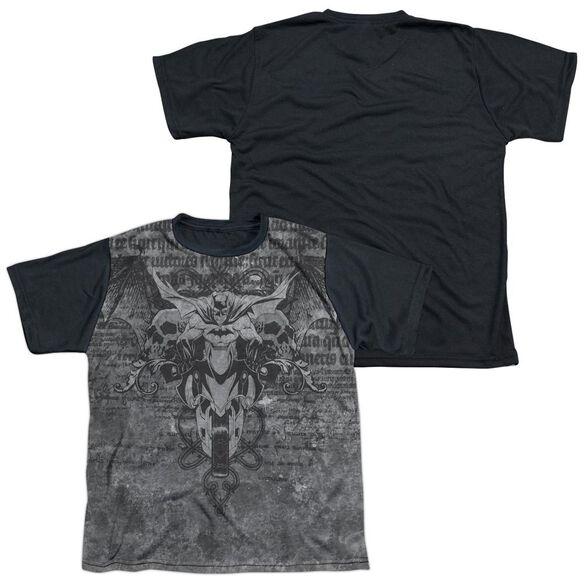Batman Ride Free Short Sleeve Youth Front Black Back T-Shirt