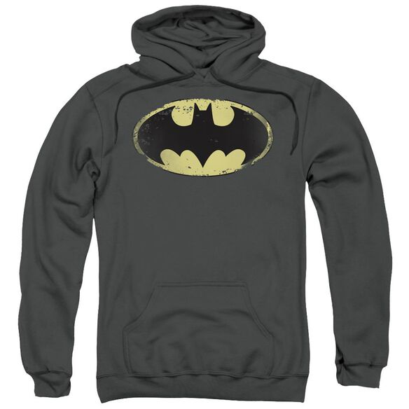 Batman Distressed Shield Adult Pull Over Hoodie
