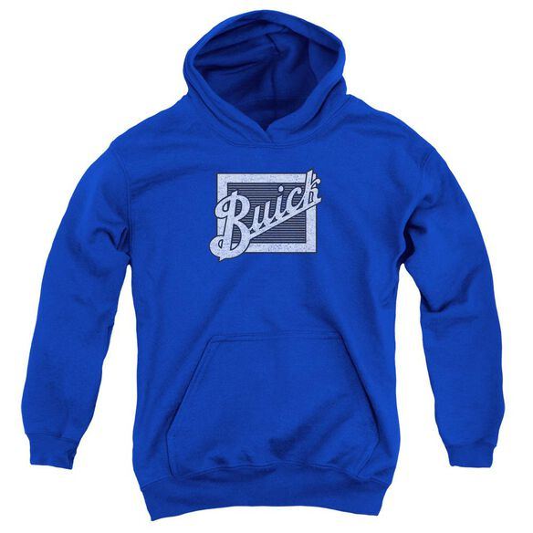 Buick Distressed Emblem Youth Pull Over Hoodie Royal