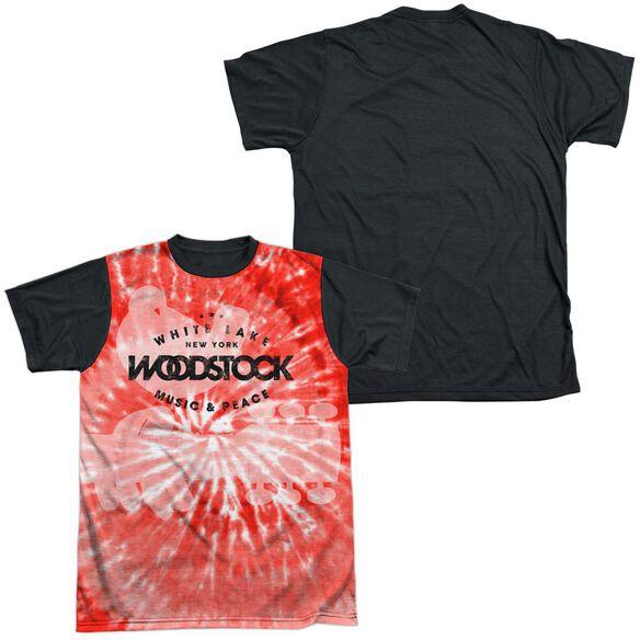 Woodstock Tie Dye Short Sleeve Adult Front Black Back T-Shirt