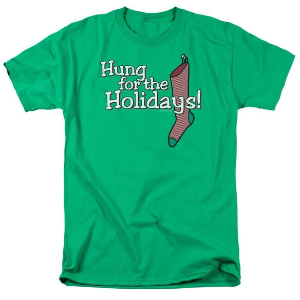 Hung For The Holidays Short Sleeve Adult Kelly Green T-Shirt