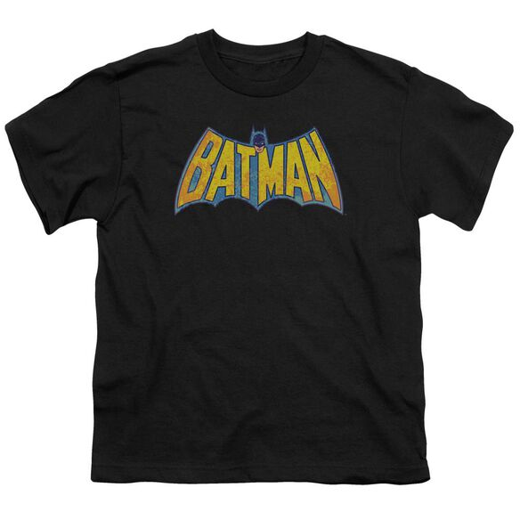 Dco Batman Neon Distress Logo Short Sleeve Youth T-Shirt