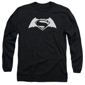 Batman V Superman Simple Logo Long Sleeve Adult T-Shirt