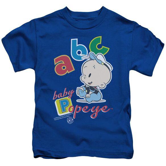 POPEYE ABC - S/S JUVENILE 18/1 - ROYAL BLUE - T-Shirt