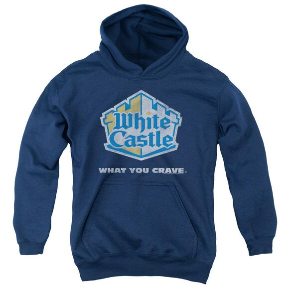 White Castle Distressed Logo Youth Pull Over Hoodie