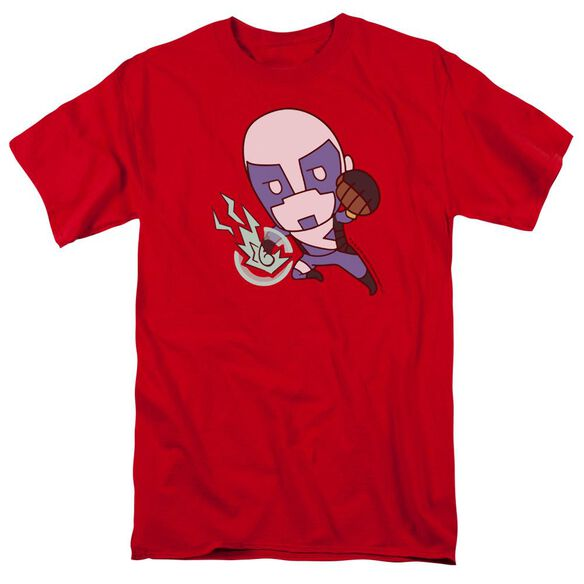 Valiant Quantum Emoji Short Sleeve Adult Red T-Shirt