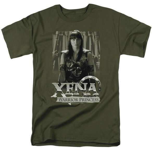 Xena Honored Short Sleeve Adult Military Green T-Shirt
