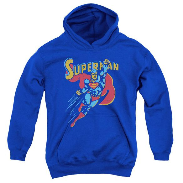 Superman Life Like Action Youth Pull Over Hoodie