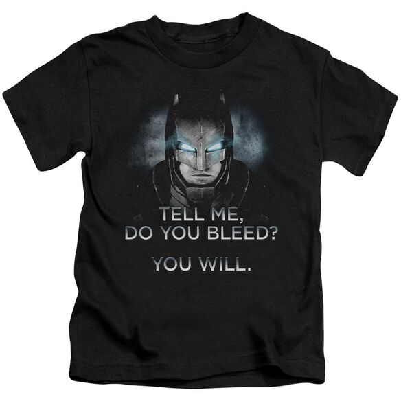 Batman V Superman Do You Bleed Short Sleeve Juvenile T-Shirt