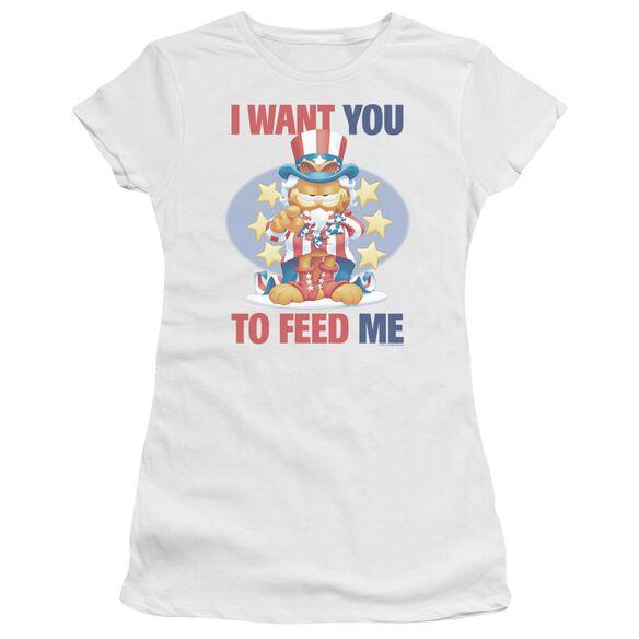 Garfield I Want You Short Sleeve Junior Sheer T-Shirt