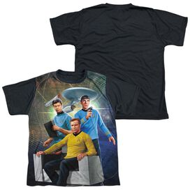 Star Trek Kirk Spock Mccoy Short Sleeve Youth Front Black Back T-Shirt