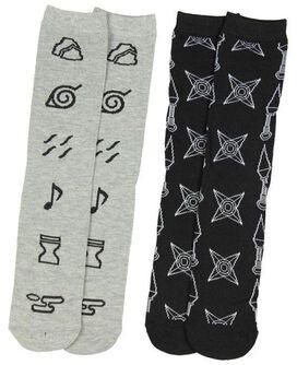 Naruto Unisex 2 Pair Crew Cut Socks