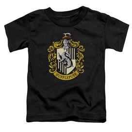 Harry Potter Hufflepuff Crest Short Sleeve Toddler Tee Black T-Shirt