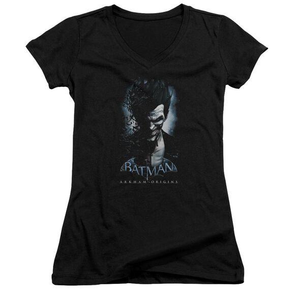 Batman Arkham Origins Joker Junior V Neck T-Shirt