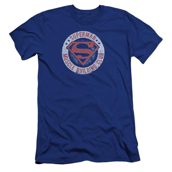 Superman Muscle Club Premuim Canvas Adult Slim Fit Royal