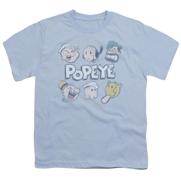 Popeye Heads Up Short Sleeve Youth Light T-Shirt