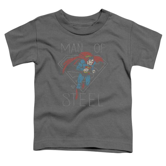Dc Hardened Heart Short Sleeve Toddler Tee Charcoal T-Shirt