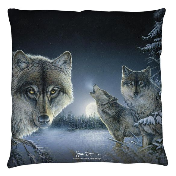 Wild Wings Midnight Wolves 2 Throw