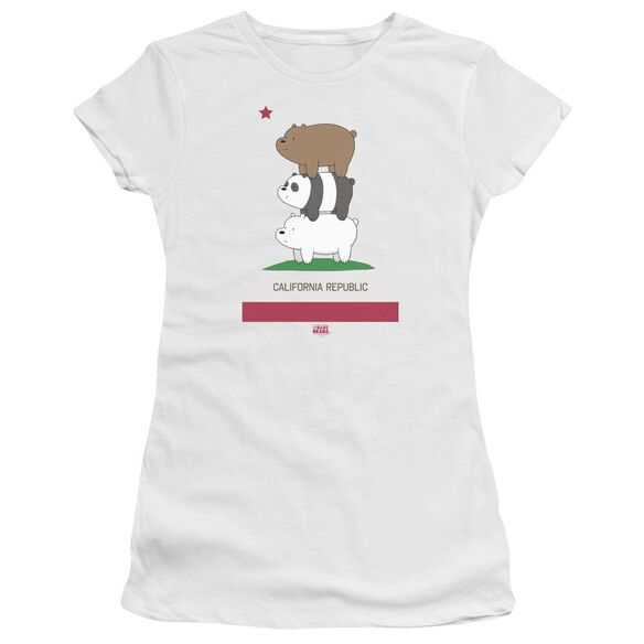 We Bare Bears Cali Stack Short Sleeve Junior Sheer T-Shirt