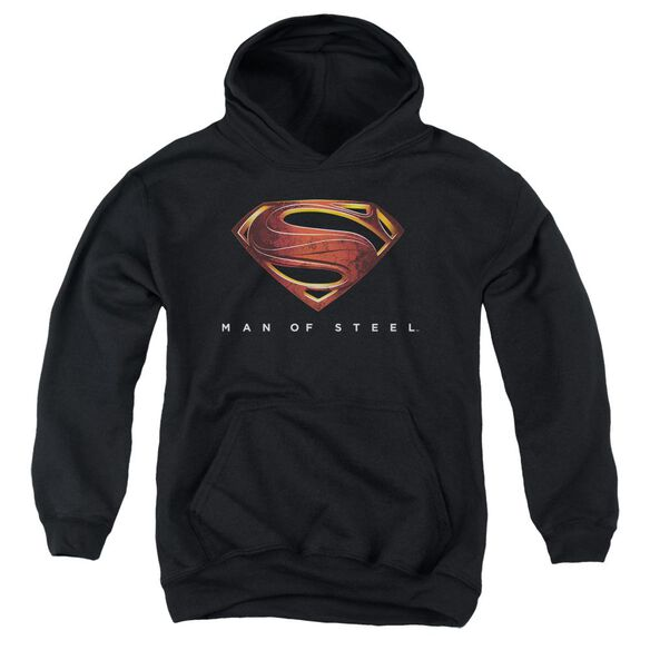 Man Of Steel Mos New Logo Youth Pull Over Hoodie