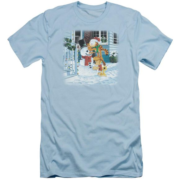 Garfield Snow Fun Short Sleeve Adult Light T-Shirt