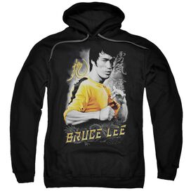 Bruce Lee Yellow Dragon Adult Pull Over Hoodie